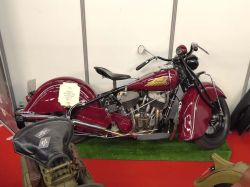 Expo motos Salon Moto Légende 2019. Indian M Chief 340 de 1400cc USA 1940