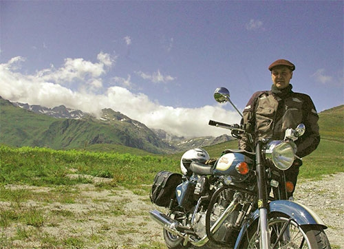 96 BALADE Premiere Transppyreneenne sur Royal Enfield 500